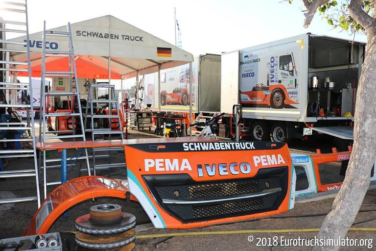 fia etrc jarama 2018 schwabentruck racing pit