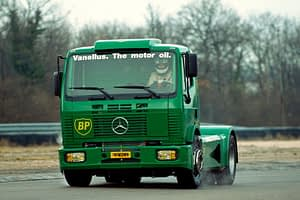 Steve Parrish and it's Mercedes Racing Truck