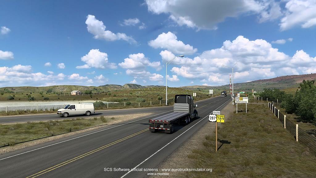 american truck simulator wyoming dlc 8