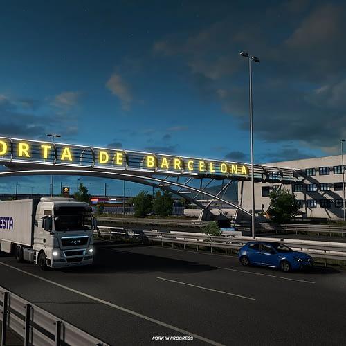 ETS2 Iberia DLC: Barcelona