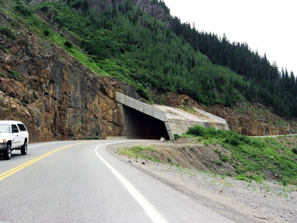 avalanche chute overpass us 550 million dollar highway